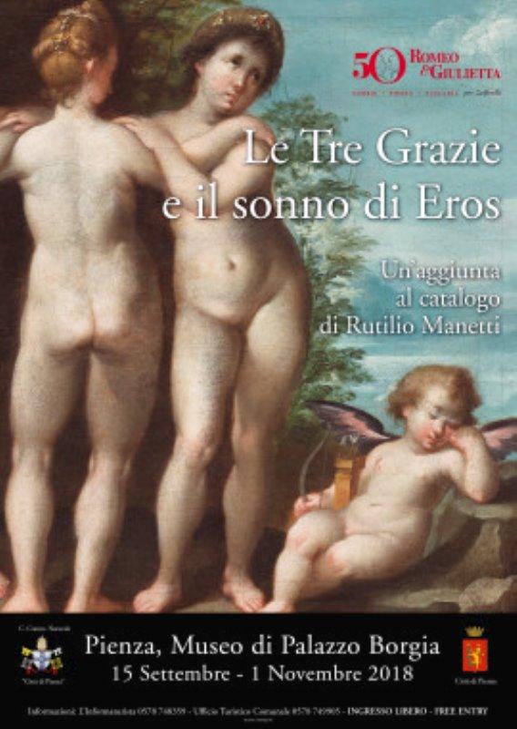 """Cosa fare a Pienza: mostra """"Le Tre Grazie e il sonno di Eros"""" Una mostra, una scoperta, un'occasione per venire a Pienza a settembre"""